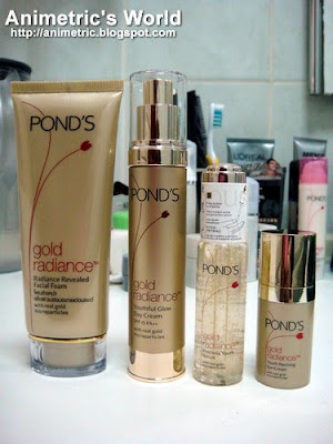Ponds Gold Radiance product line