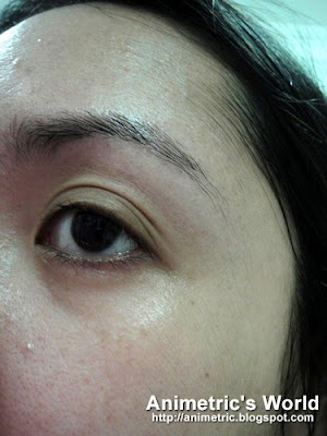 Result from Pond's Gold Radiance application