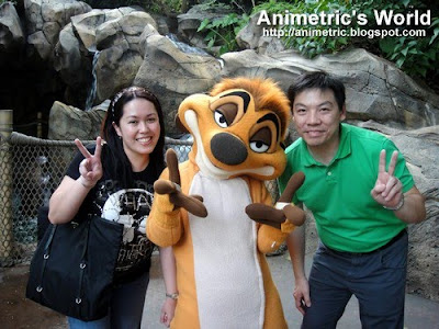 Animetric with Timone and Hubby at HK Disneyland