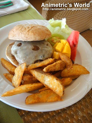 The Timberland 6 oz. Burger at Timberland Sports and Nature Club