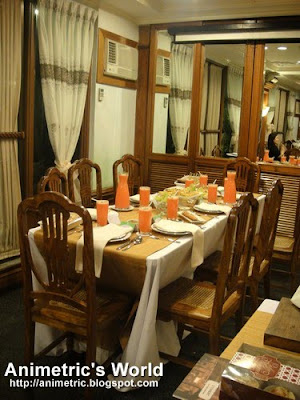 Inside Lola Maria Restaurant in The Legend Villas