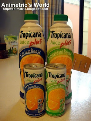 Tropicana Juice Plus Calcium Boost and Antioxidant Boost