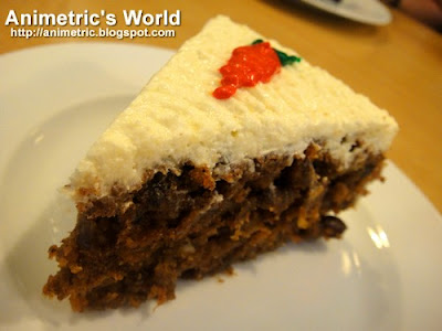 Carrot Cake at Greens Vegetarian Restaurant and Cafe