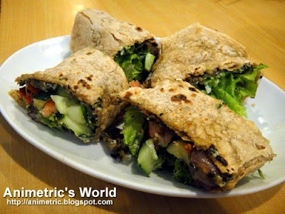 Roasted Veggies Wrap at Greens Vegetarian Restaurant and Cafe