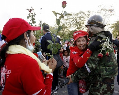 >Thai protest ends and Govt extends Songkran holiday