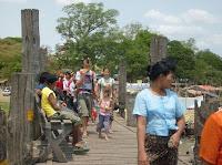 >U Bein bridge in Thinggyan