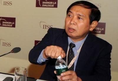 >Gen. Aye Myint against international community