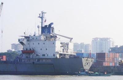 >business with the oil carrier in Rangoon