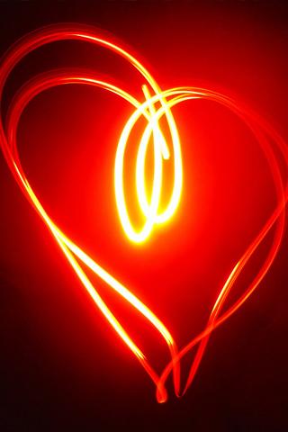 wallpaper light. Light-Heart-iPhone-