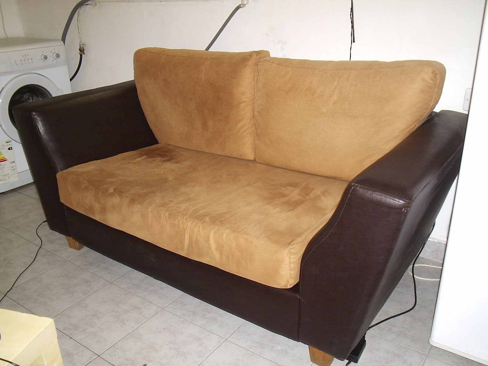 Leather Suede Sofa L Officina Time Square Modern Brown