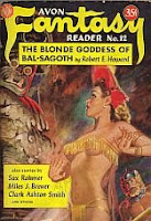 Cover image of Avon Fantasy Reader No 12, January 1950, edited by Donald A Wollheim