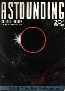 Cover by Gilmore of Astounding Science-Fiction magazine, March 1940 issue