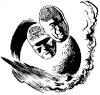 Illustration accompanying the original publication in Astounding of short story Final Command by A E van Vogt