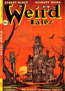 Cover of the magazine Weird Tales, May 1947 issue, Canadian edition