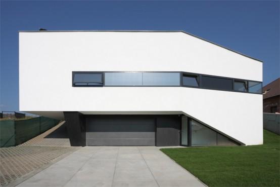 Casa muy moderna dise o interior fresco con colores en for Modern black and white house decor