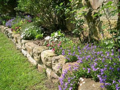 El jard n r stico plantas flores y jardin for Jardineras para patios pequenos