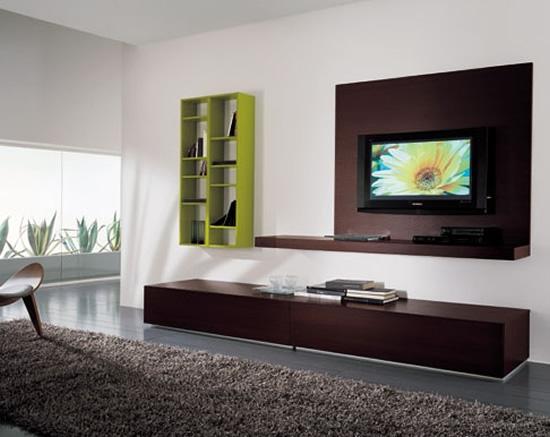 Moderna sala de estar con TV LCD  Decora Tu Casa Fotos, Diseño Y