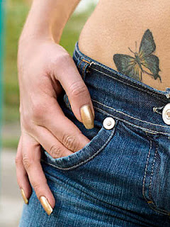 butterfly tattoos is on the small
