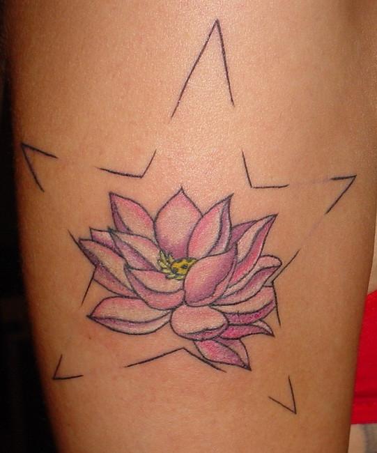 Flower Lotus Tattoo - Tattoo Idea For Women