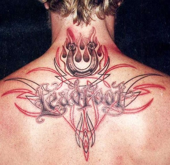 letter tattoos for guys. Men tribal back tattoos for