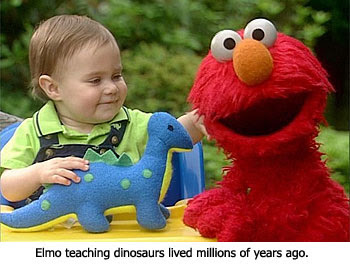 Elmo on Dinosaurs