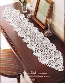 Camino de mesa a crochet 4