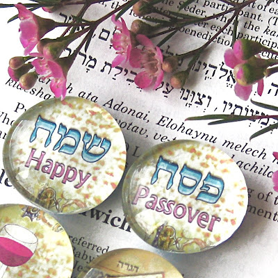 Happy Passover Set of 4 Magnets