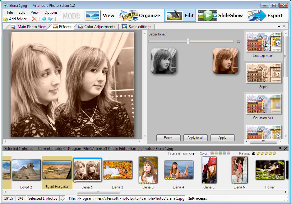 photo editor v1 5 444 software 15 07 mb artensoft photo editor manages