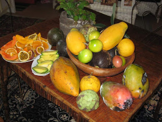 organic Hawaiian tropical fruit from the garden of the Hale Hookipa Inn Maui Hawaii Bed and Breakfast