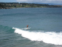 Maui Hawaii surfing long board stand up paddle