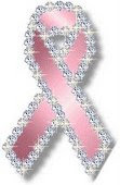 bling pink ribbon