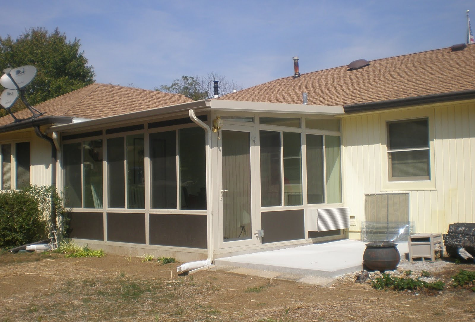 Amazing Added Additional Concrete Pad .. Also Notice The Amana Heating And Air Unit.