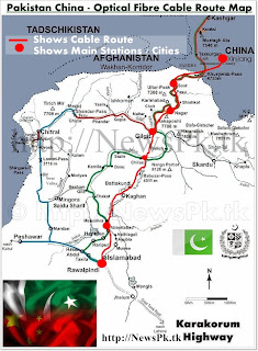 Pak China Fier Optic Cable Route Map