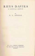 <i>Rhys Davies: A Critical Sketch</i> - R. L. Mégroz