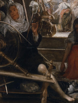 Detalle de Atenea, donde vemos la pierna de la diosa.