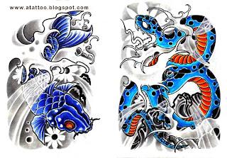 Carpa Azul e Cobra Azul