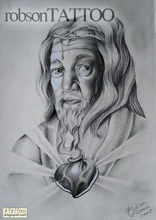 Jesus Cristo com Sagrado Coração