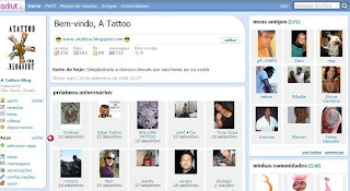 Perfil no Orkut