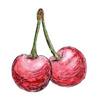 Desenho de cerejas