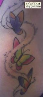 Três borboletas de Livia