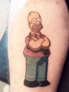 Homer Simpsons Tattoo