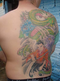 Dragão e Samurai Tattoo