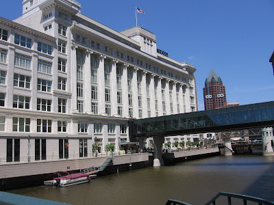 This is my office building - I love working along the riverwalk - and just 6 blocks from Lake Michigan