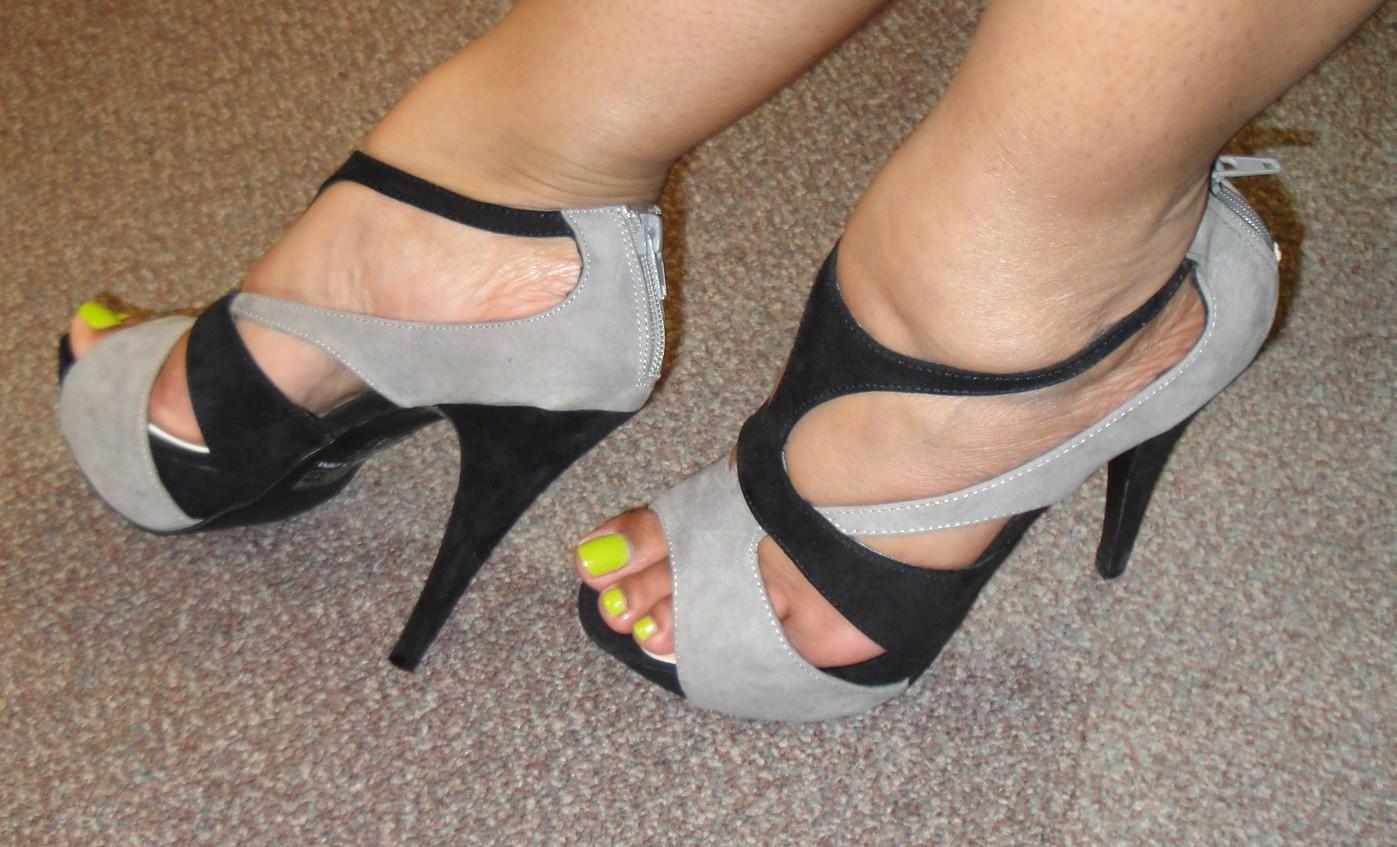 Keisha grey grey and black suede shoes