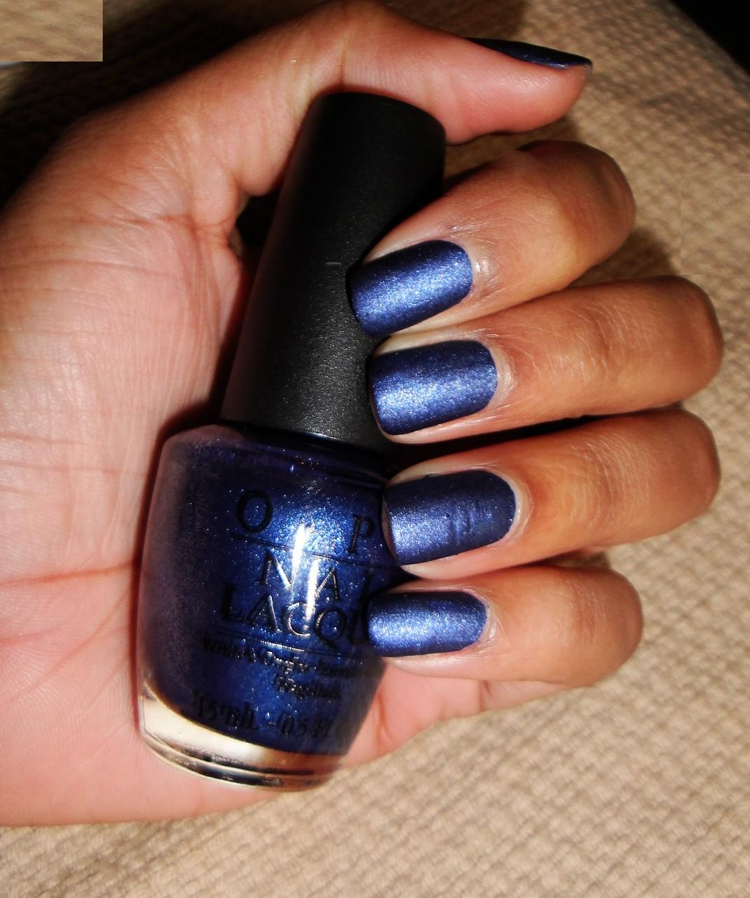 Suede Nail Polish: The Fancy Face: OPI Russian Navy Suede NAILS
