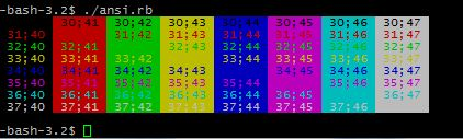 Terminal Color Changing Come In The Form Of Esc ASCII Decimal 27 Hex 1B Octal 33 Escbackground Foreground M Its Important There Be No Spaces