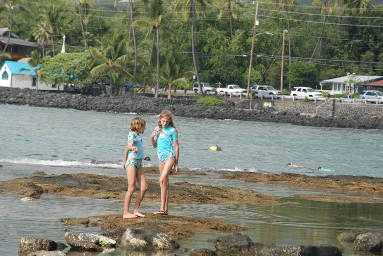 Amelia and Isabel at the Snorkeling Place