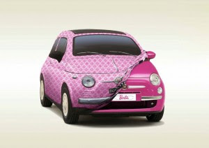 New Barbie Fiat-500-2009 2010 show-car-birthday-gift-for-barbie-1