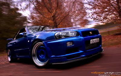 Car Wallpaper : Nissan Skyline R34 GT-R (EVLR34