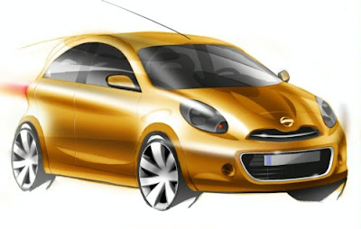 Nissan Reveals New Micra Sketches 2010